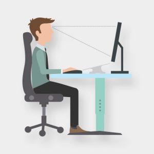 Richtiges Sitzen: Fit im Büro.